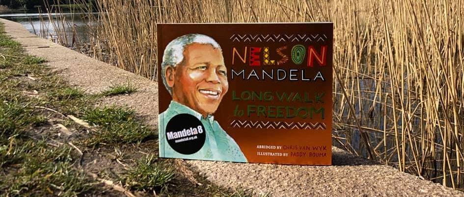 A copy of the book 'Long Walk to Freedom' in Princes Park